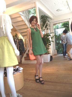 テラ美コラボの服を作ったtitivateの展示会で会った日のコーデです