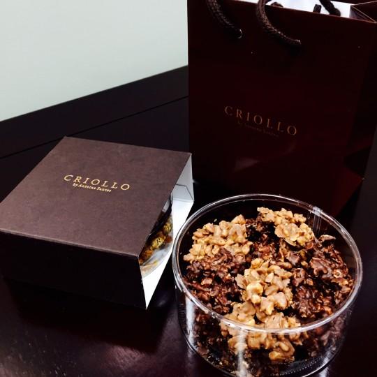 CRIOLLOのチョコクランチは大人なビターさ♥