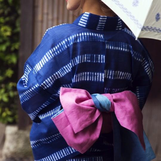 【藤井萩花】JJ8月号浴衣企画・秋月洋子氏に学ぶ帯選びのポイント!その①