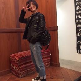 """黒×デニムの""""萩花ベーシック""""【藤井萩花】私服SNAP"""