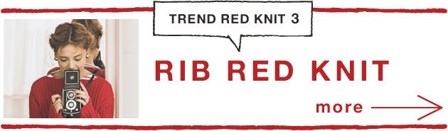 RIB RED KNIT