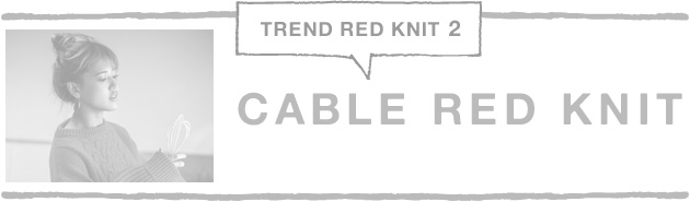 CABLE RED KNIT