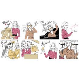おしゃれなイラストスタンプ【マイケル・コース】お友達追加で無料配信!