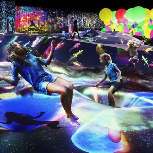 【チームラボ】全身でアートを体感できる!世界初のデジタルアートミュージアム開業決定