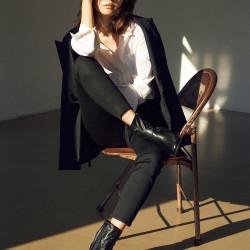 明日から真似したい♡スタイルアップしたい日の「黒のショートブーツ」コーデ