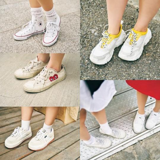 韓国のおしゃれなコは、みんな「白スニーカー」を履いていた!