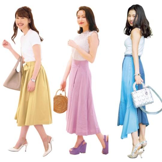 今日の私イイ感じ♡って思える「きれい色スカート」コーデBEST10